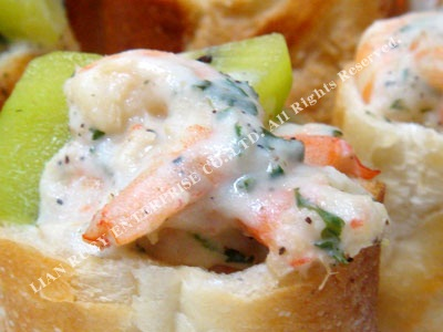 Onion White Sauce Shrimp Salad